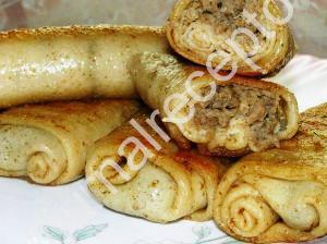 блинчики с мясом рецепт с фото