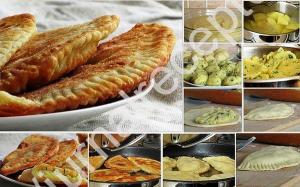Чебуреки с картофелем и сыром рецепт