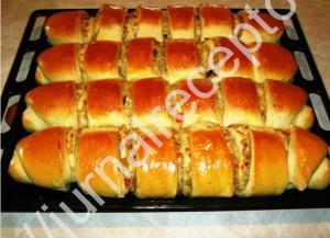 Пироги с капустой и печенью фото