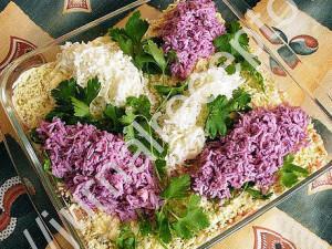 салат Букет сирени рецепт с фото