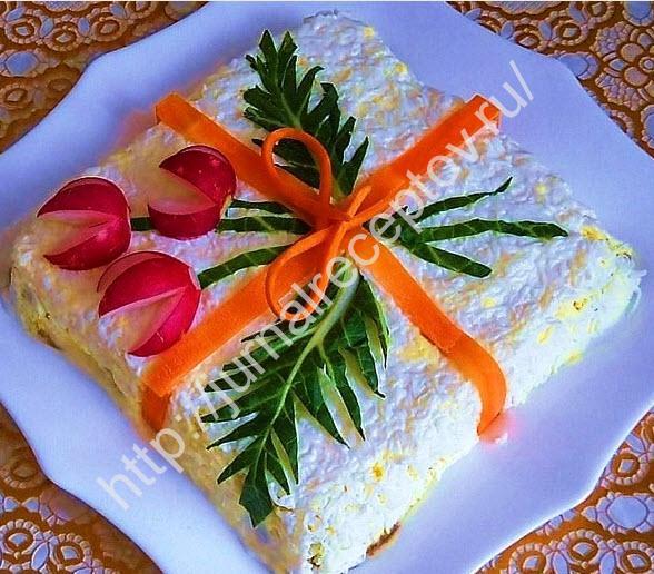 салат с ананасами в духовке рецепт с фото