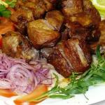 Шашлык из свинины в духовке рецепт