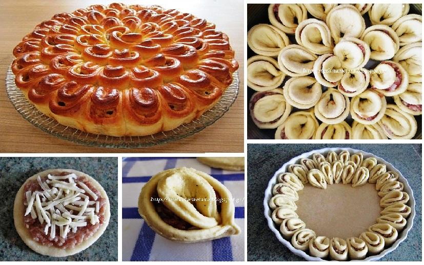 Как сделать красивый пирог из дрожжевого теста видео 174