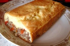 Ленивый пирог с начинкой фото