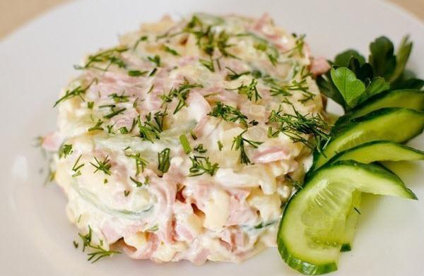 салат с ветчиной фото