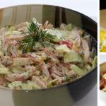 Салат с яйцом и ветчиной фото