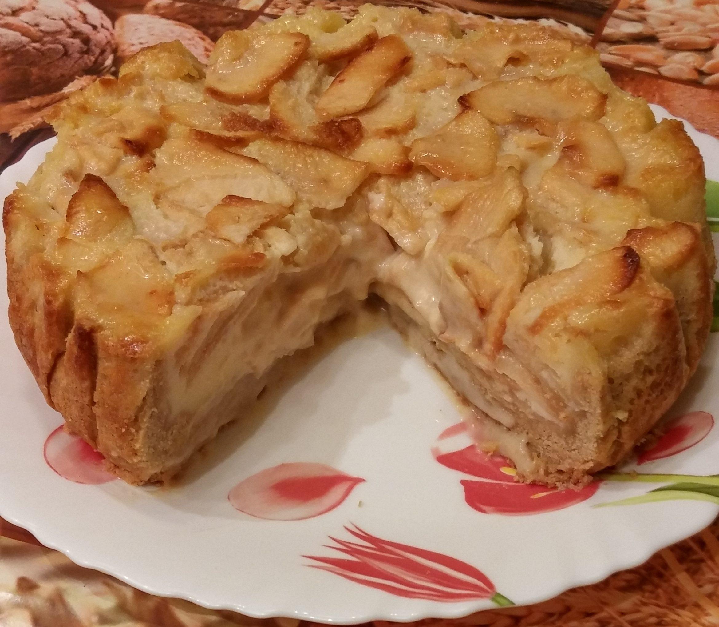 Яблочный пай с заварным кремом… Все кто угощался просят рецепт.