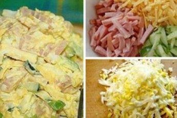 Салат «Нежный». Готовлю его часто, он не только очень вкусный, но и не дорогой.