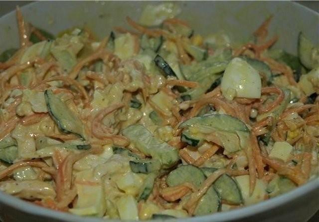 Давно искала простой способ разнообразить обычные блюда без особых затрат… Делюсь рецептом! Вот оно, блюдо дня - салат «Сочный пикант»!