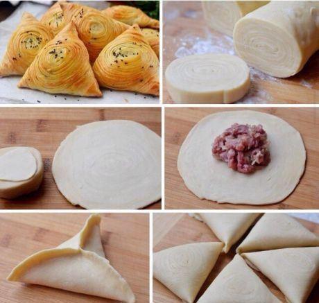 Самса узбекская слоеная - вкуснятина невероятная