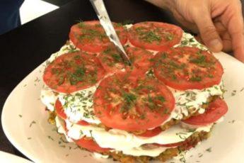 Наивкуснейшая закуска из помидоров и кабачков