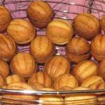 Печенье Орешки со сгущенкой фото