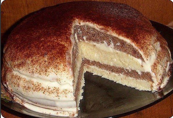 Торт на кефире рецепт фото