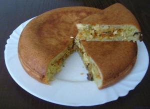 Заливной пирог в мультиварке фото