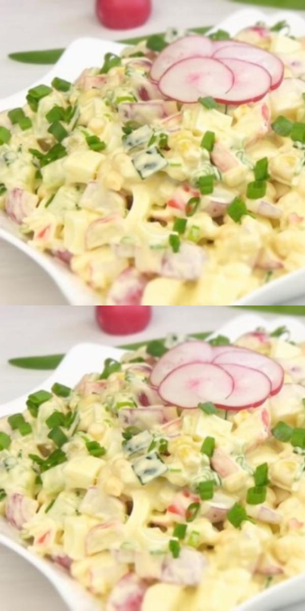 Салат из крабовых палочек вкусно, до безумия!