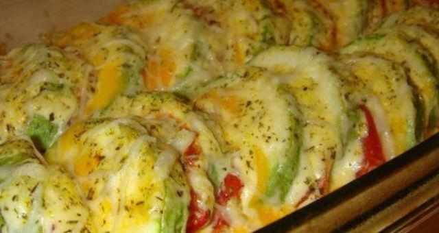 Очень вкусные запеченные кабачки с помидорами - обалденно вкусно