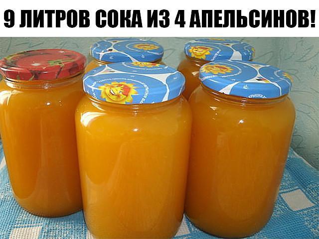 9 литров сока из 4 апельсинов!!!