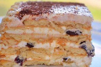 Бесподобный торт без выпечки с печеньем. Эта начинка вскружит тебе голову! Обожаю чернослив.